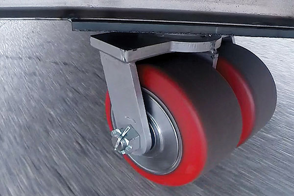 <p>Ergonomic wheels and casters require minimal force to get moving and stay in motion. They also help reduce noise levels in the facility.</p>