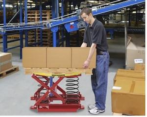 <p>通过确保箱子的顶层处于舒适的高度,PalletPal 360消除了弯曲和拉伸</p>