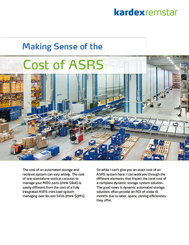 Making Sense of the Cost of Automated Storage and Retrieval