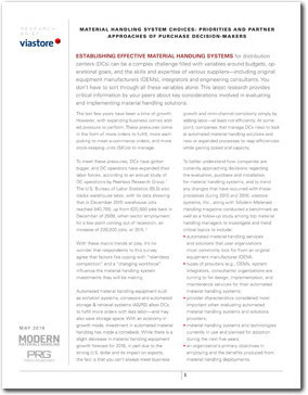 research paper on material handling system The material handling industry manufactures and distributes the equipment and services required to implement material handling systems, from obtaining, locally processing and shipping raw materials to utilization of industrial feedstocks in industrial manufacturing processes.