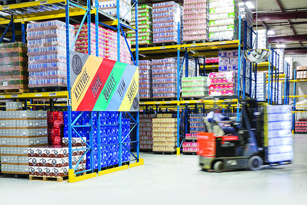 Warehouse System Report: A B  Beverage Racks Up Productivity