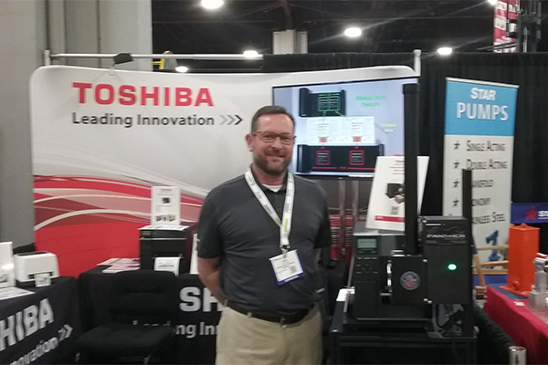 <p>Chris Armistead, Toshiba&#8217;s business development manager, Bar Code Solutions, reveals the company&#8217;s new print and apply system.</p>
