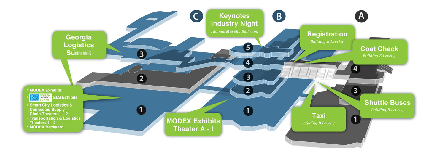 Get the lay of the land with Modex 2018 show map - Modern ... Georgia World Congress Center Map on us house of representatives district map, atlanta map, fox theatre map, marietta map, united states map,